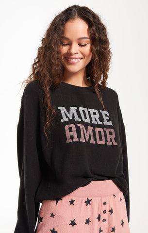 """More Amor"" Long Sleeve Top by Z SUPPLY"