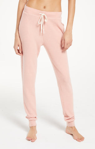 Rosy Pink Homey Rib Jogger by Z SUPPLY