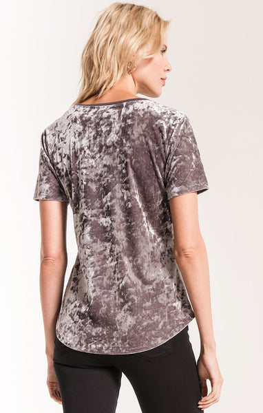 Crushed Velour V-Neck Tee by Z SUPPLY (more colors)