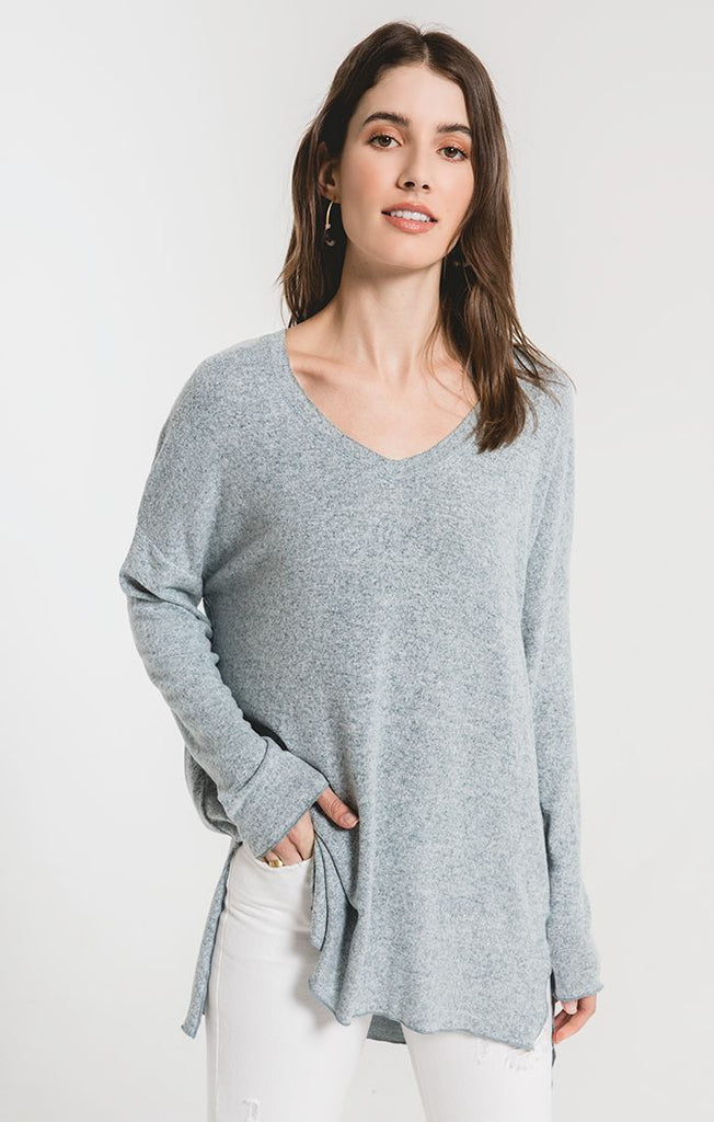 The Marled Sweater Knit V-Neck Tunic by Z SUPPLY