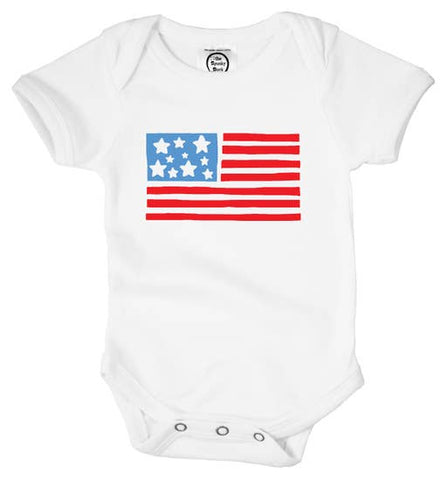 USA Flag Fourth of July Unisex Onesie