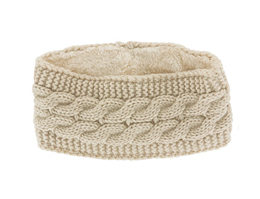 Plush Lined Cable Knit Head Warmer (more colors)