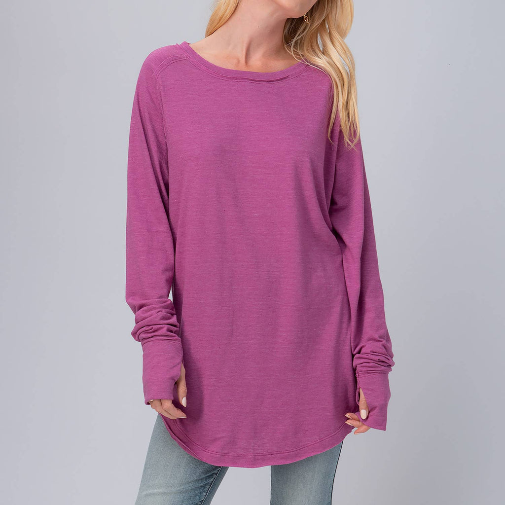 Basic Oversized Tunic Top