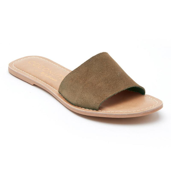 Cabana Grey Suede Slide Sandals by Matisse Coconuts Collection