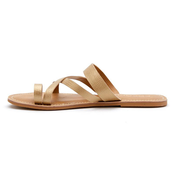 Gold Catalina Slide Sandals by Matisse Coconuts Collection