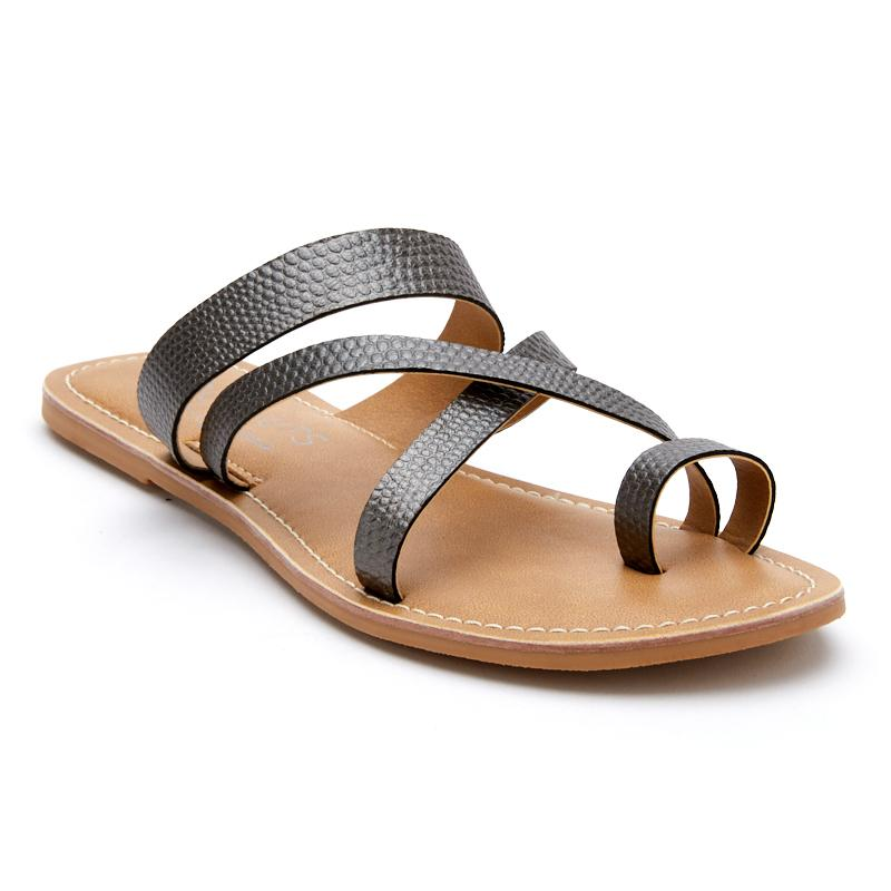 Pewter Catalina Slide Sandals by Matisse Coconuts Collection