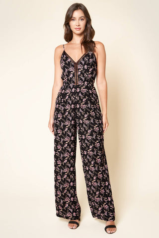 Emery Lattice Trim Jumpsuit