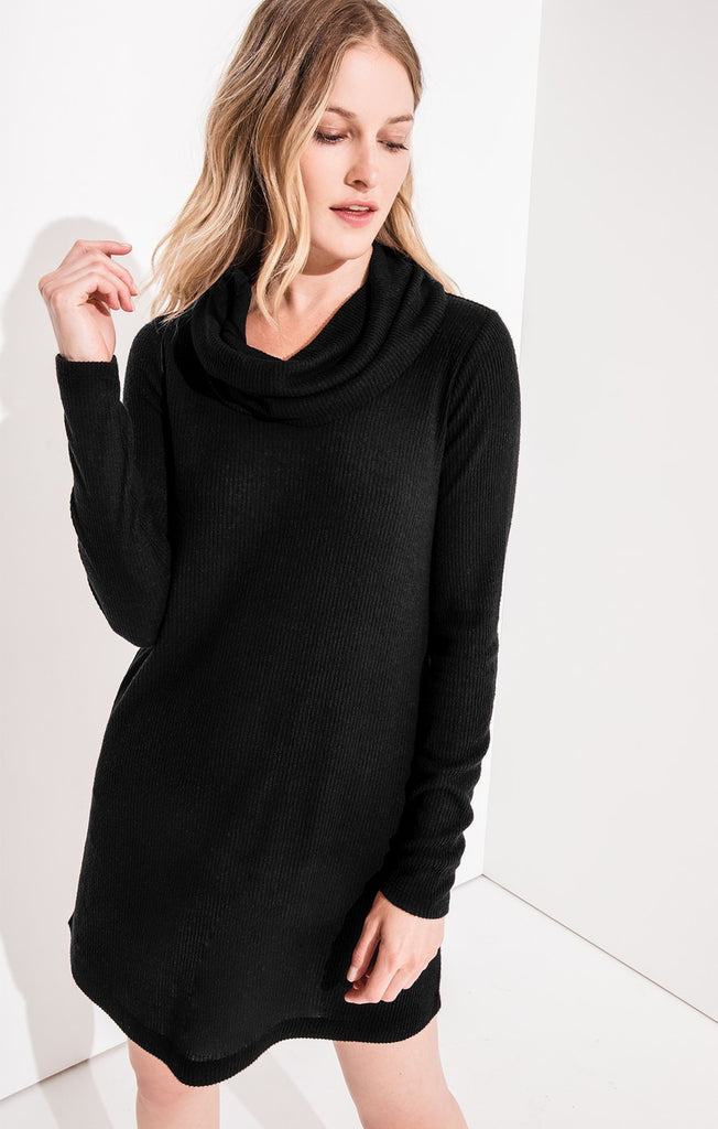 5c6fa468680 The Black Brushed Cowl Neck Dress by Z SUPPLY – You   Me