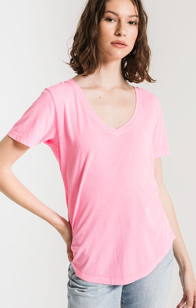 The Neon V-Neck Tee by Z SUPPLY