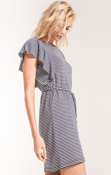 The Stripe Ruffle Sleeve Dress by Z SUPPLY