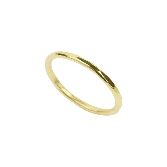 Hammered Band Ring by Katie Dean