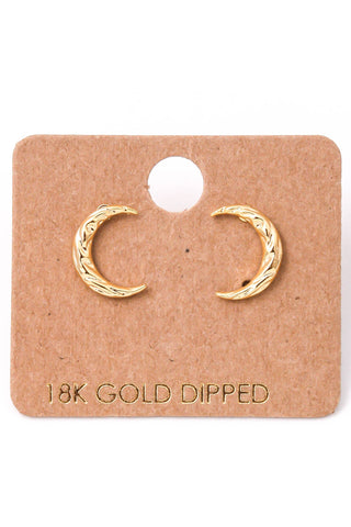 Crescent Moon Stud Earrings (more colors)
