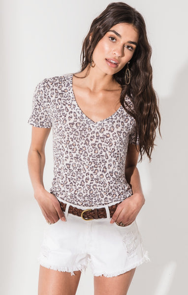 The Leopard V-Neck Tee by Z SUPPLY