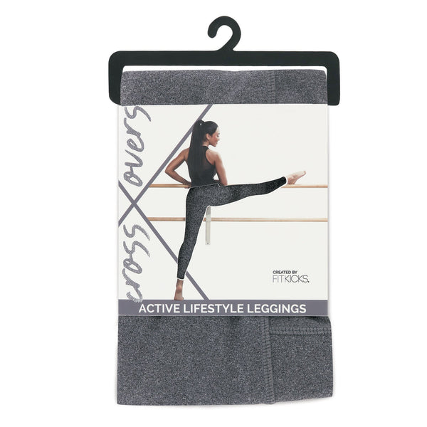 Crossover Leggings by Fitkicks - GREY