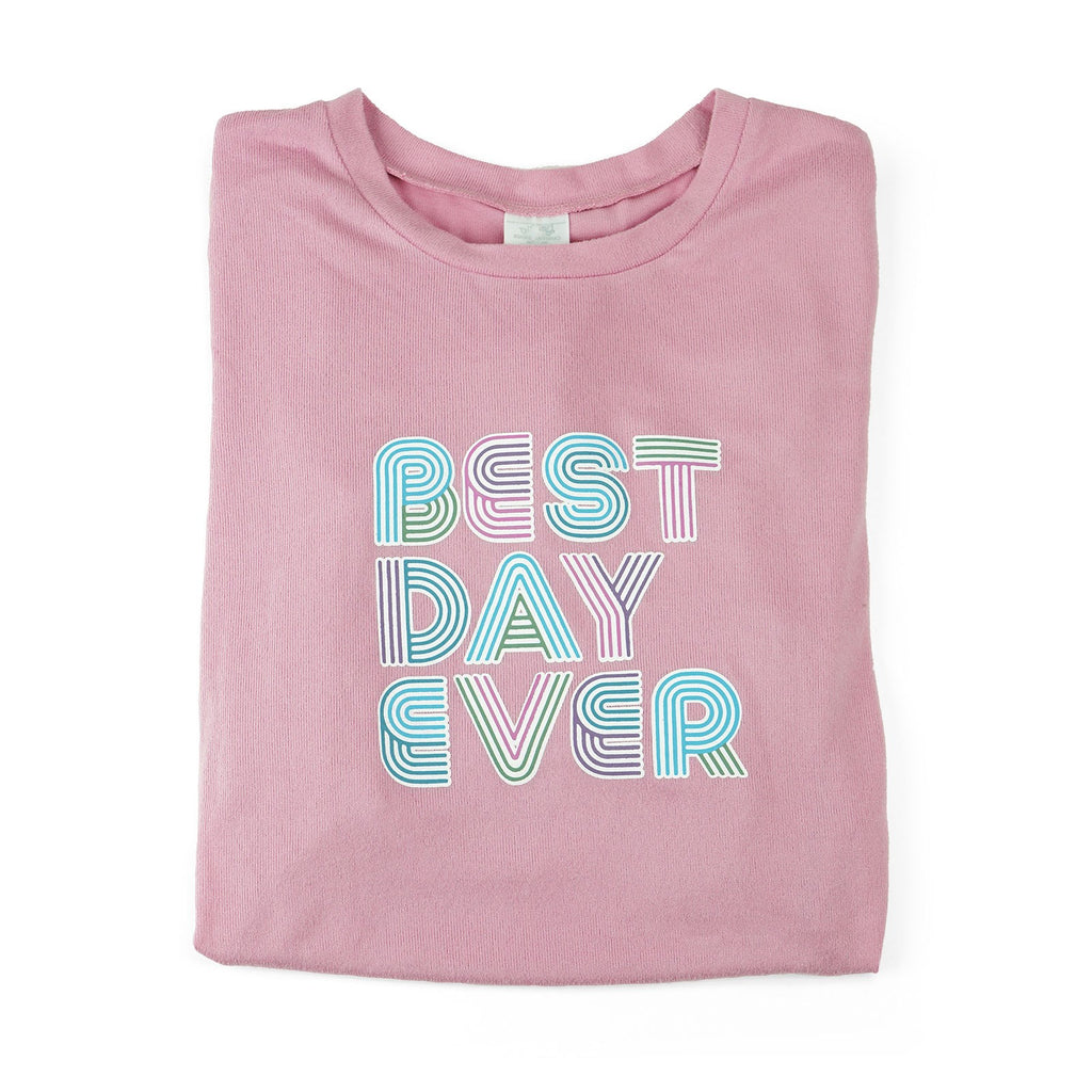Best Day Ever Lounge Sweater by Hello Mello - BEST DAY EVER