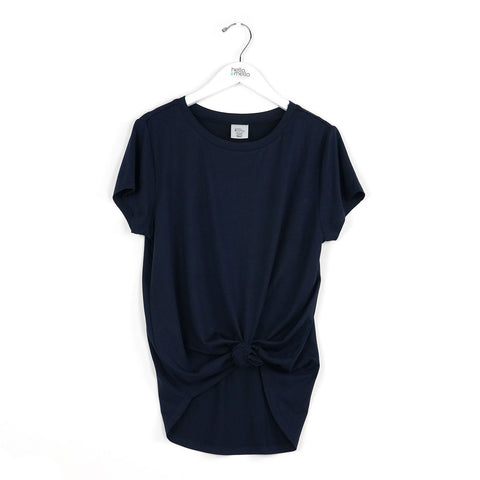 Crewneck Dream Tee by Hello Mello - NAVY