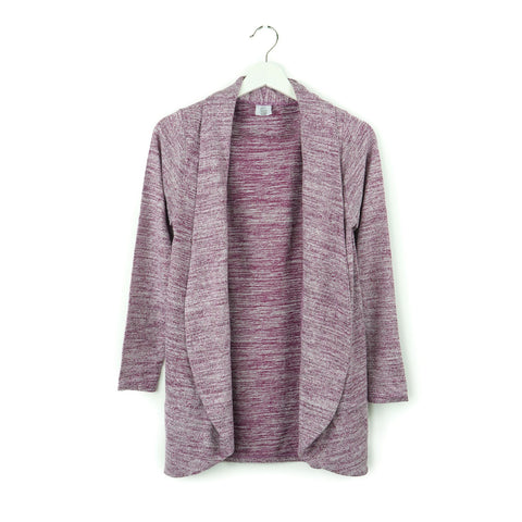 Perennial Cardigan by Hello Mello - RASPBERRY