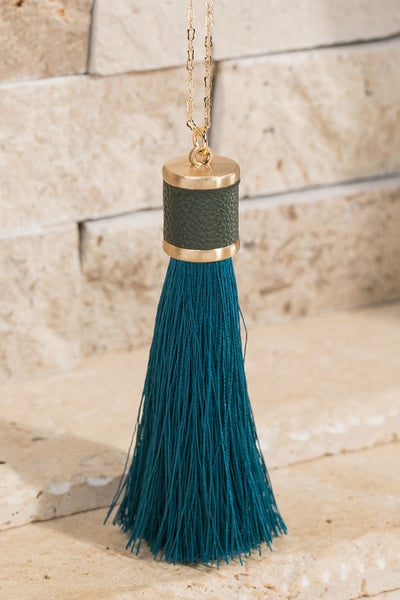 Threaded Tassel Necklace