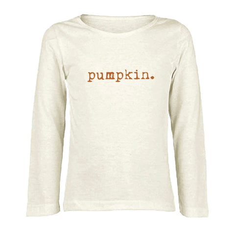 Pumpkin. Long Sleeve Tee by Tenth & Pine