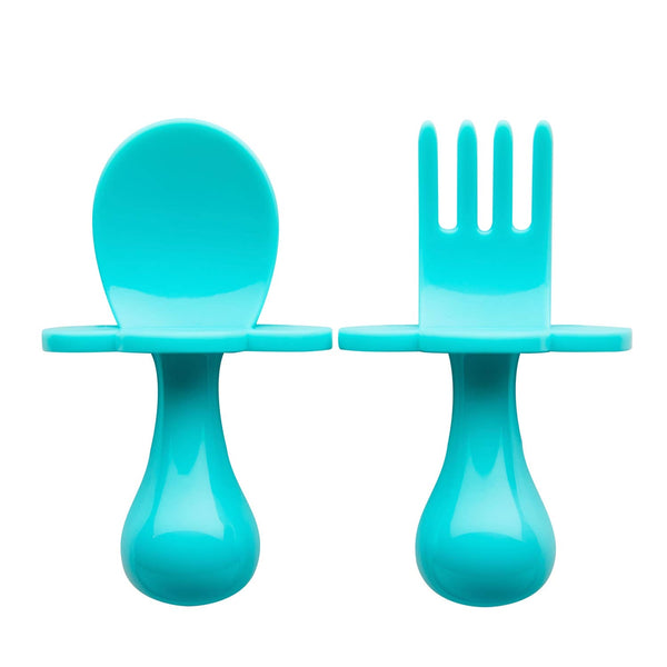 Ergonomic Fork & Spoon Set (more colors)