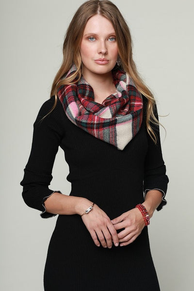 Classic Woven Plaid Infinity Scarf (more colors)