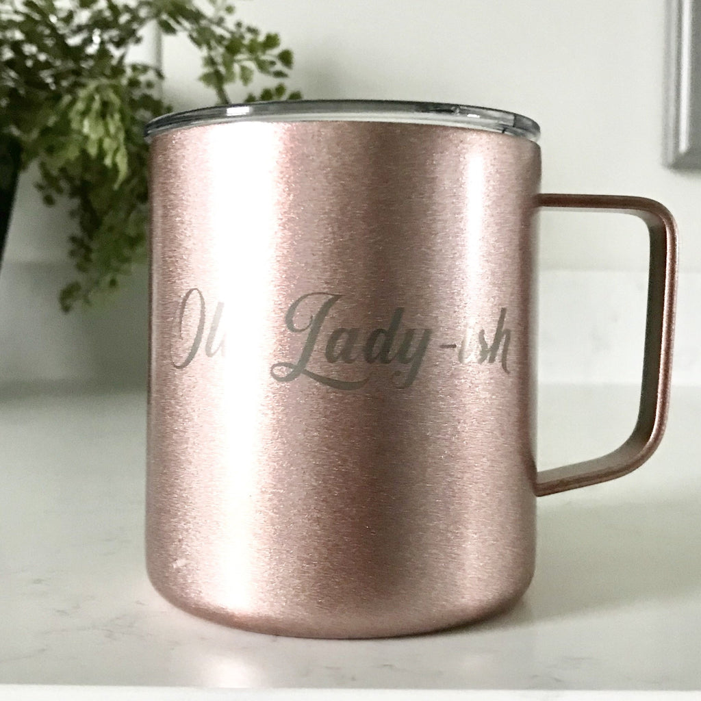 "Banky Girl Creations - ""Old Lady-ish"" Stainless Steel Mug Tumbler"