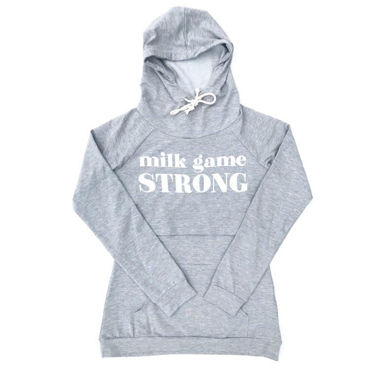 "Banky Girl Creations - ""Milk Game Strong"" Nursing Hoodie"