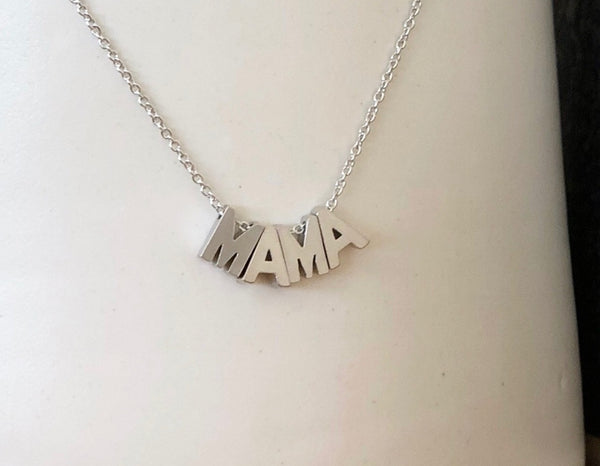 I'm MAMA Necklace in Silver