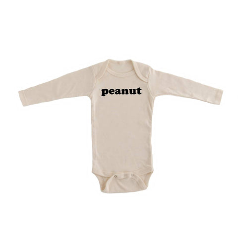 """Peanut"" Organic Long Sleeve Bodysuit"