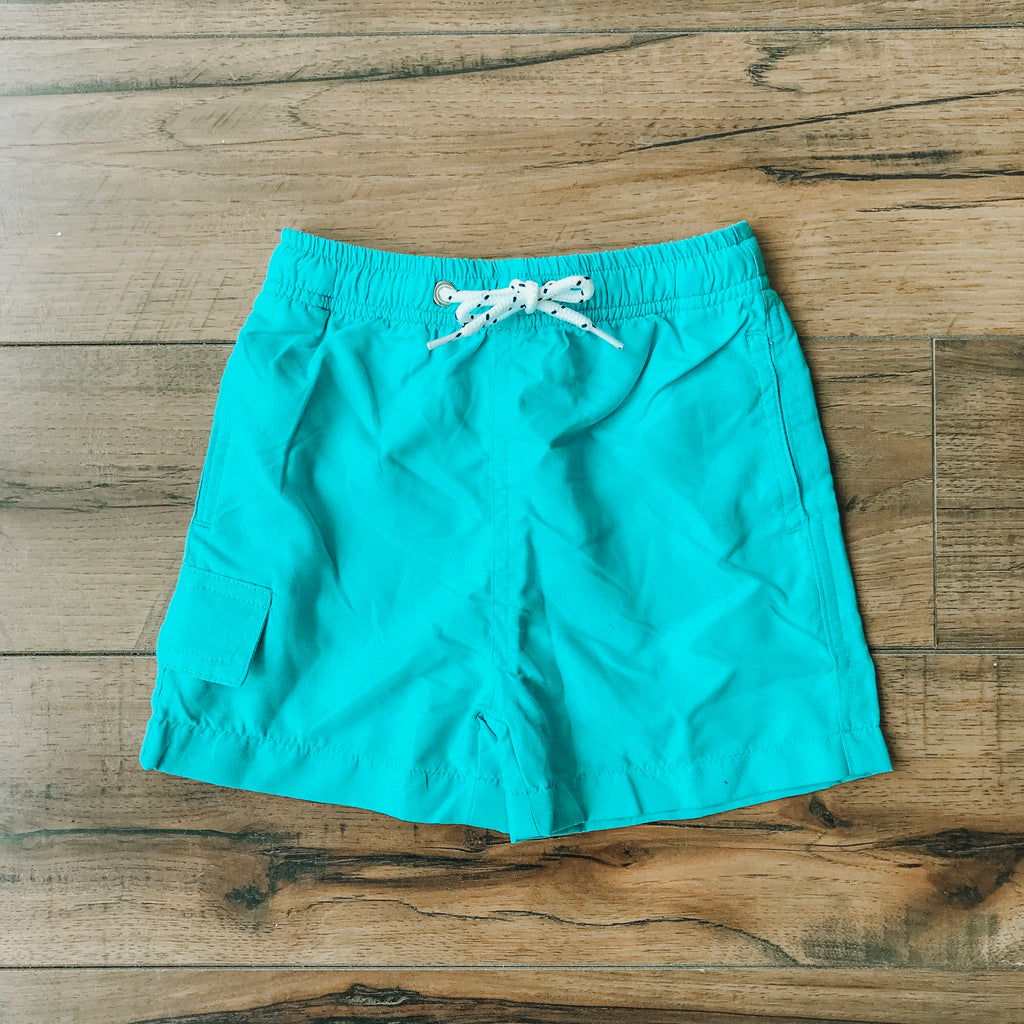 Boys Aqua Blue Swim Shorts