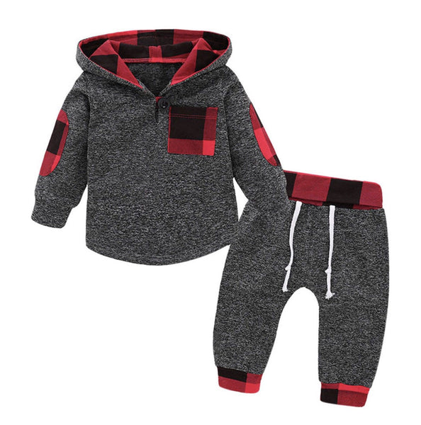 Buffalo Check Hoodie and Pants Set