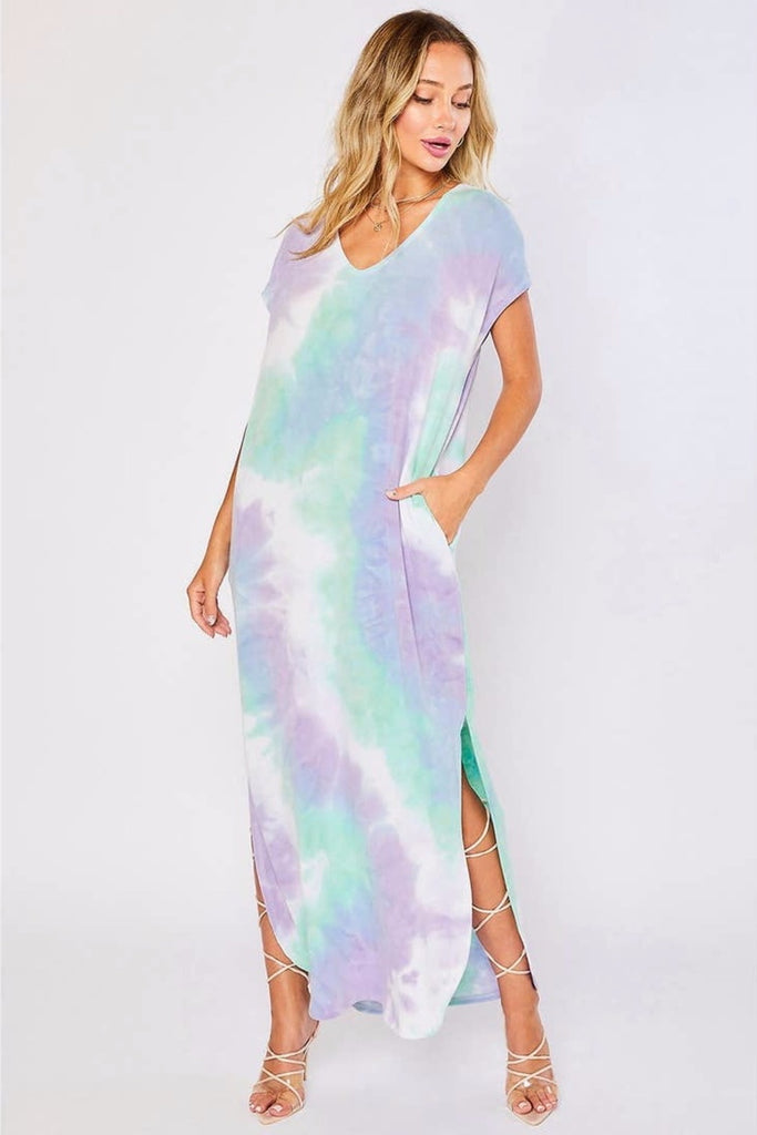 La La Land Tie Dye Maxi Dress