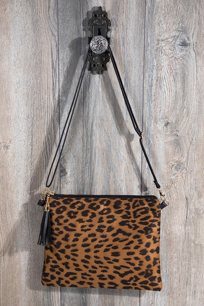 Animal Print Crossbody/Clutch Bag