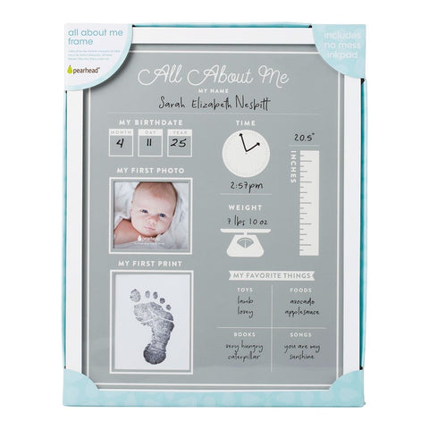 All About Me - Baby's 1st Year Frame and Clean-Touch Ink Pad