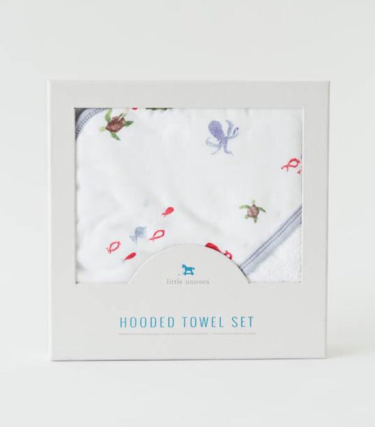 Little Unicorn - MERMAID Hooded Towel Set