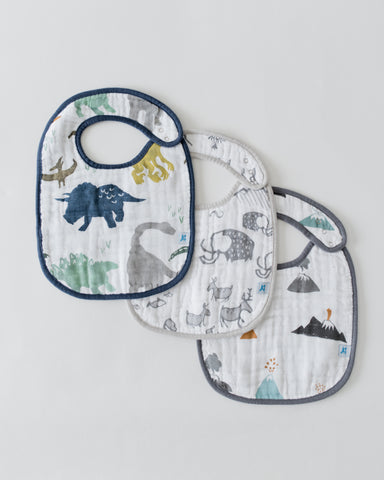 Little Unicorn - DINO FRIENDS Cotton Muslin Classic Bib Set (3 pack)
