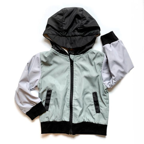 Little Bipsy - Colorblock Waterproof Windbreaker Jacket