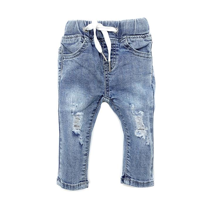 Little Bipsy - Light Wash Distressed Denim