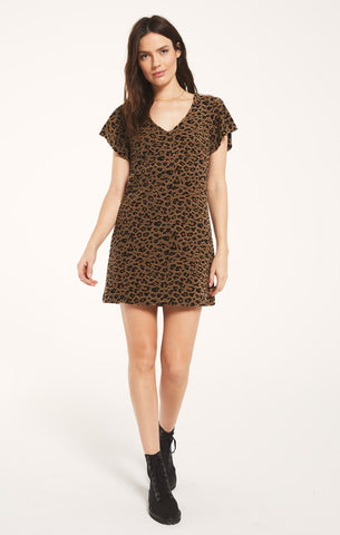 Lina Leopard Jacquard Dress by Z SUPPLY