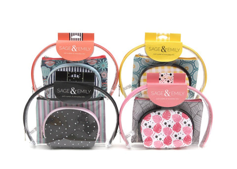 3 Piece Cosmetic Case Set