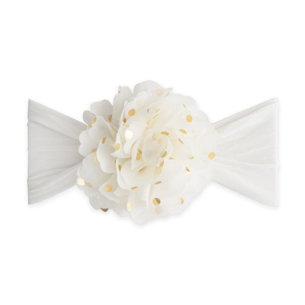 Baby Bling - Gold Dot Flower Headbands