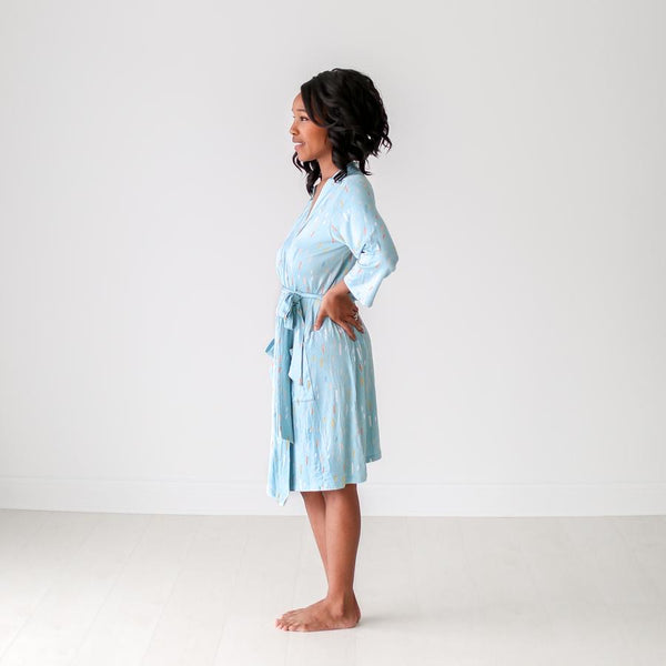Posh Peanut - TEAL RAINDROPS Robe