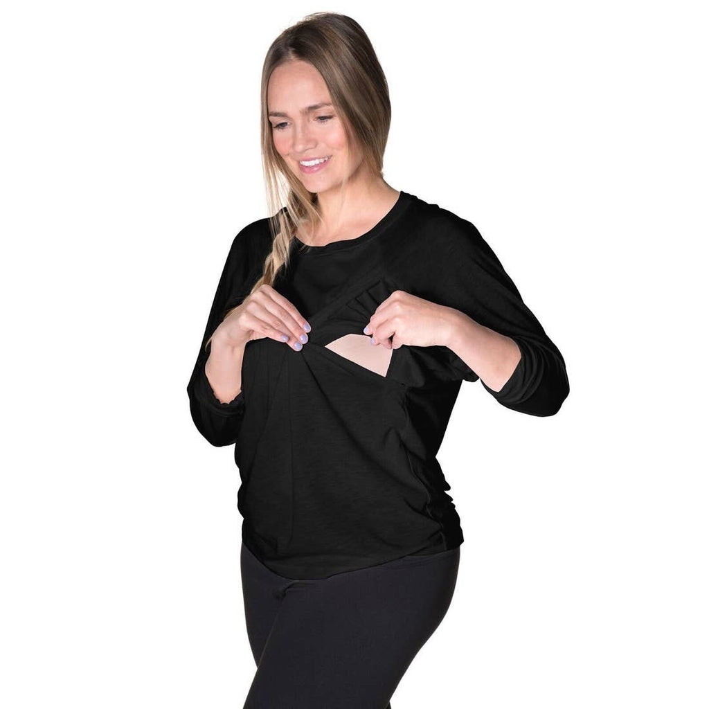 Bliss Jersey Long Sleeve Nursing Top