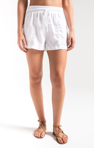 White Nandini Shorts by Rag Poets