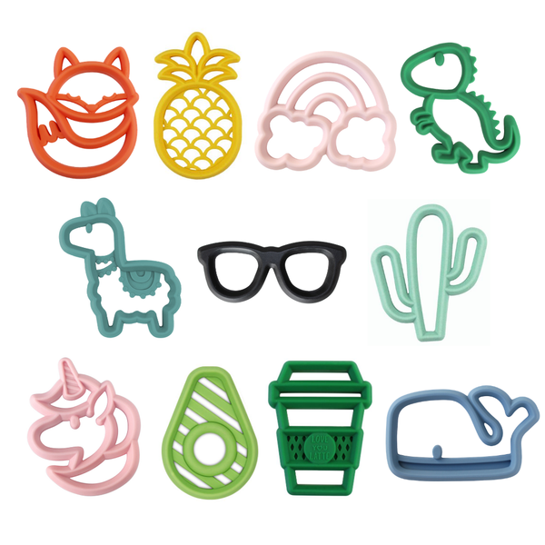 Itzy Ritzy - Chew Crew Silicone Baby Teethers