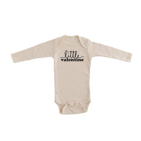 """Little Valentine"" Organic Long Sleeve Onesie"