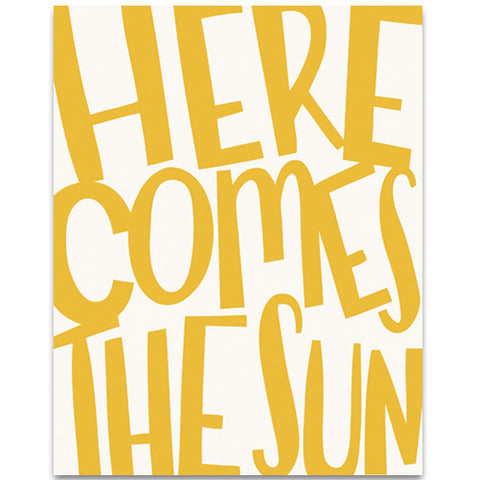 Helmsie - Fine Art Print - Here Comes the Sun