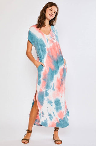 Tropical Thoughts Tie Dye Maxi Dress