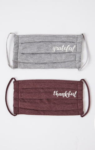Grateful & Thankful Reusable Face Masks by Z SUPPLY (more options)