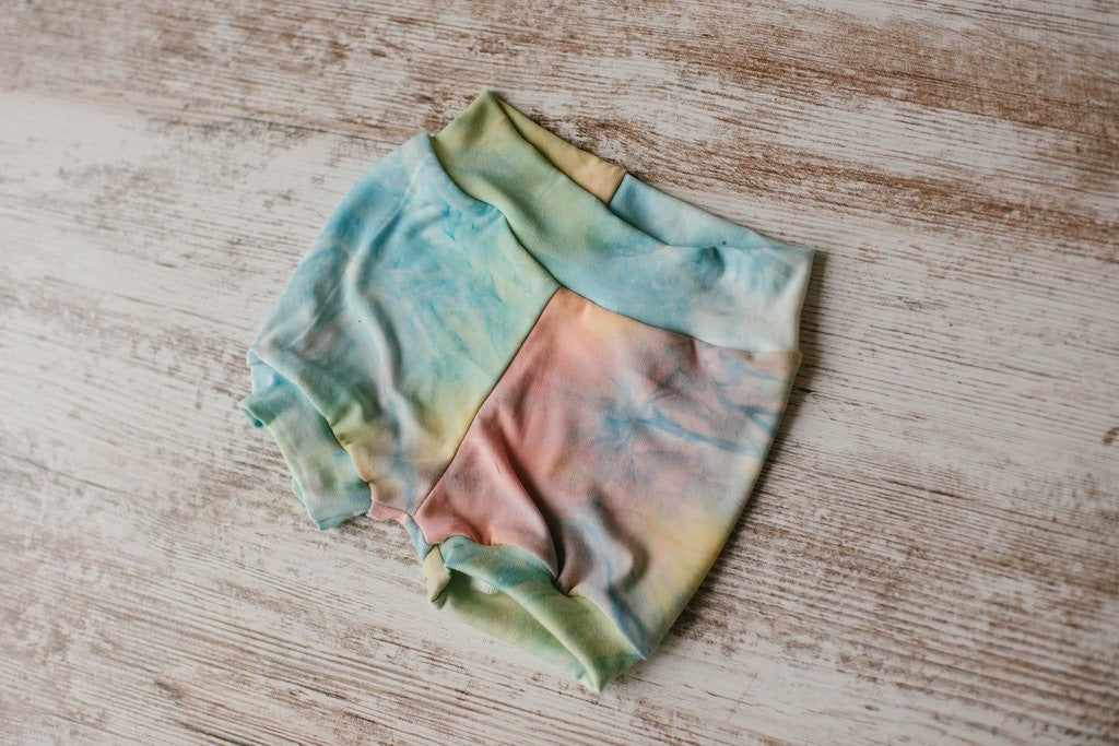 Rainbow Frosting Tie Dye Shorties